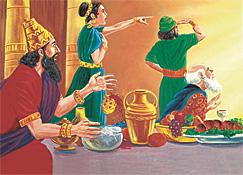 Belsasar i su invitadonan