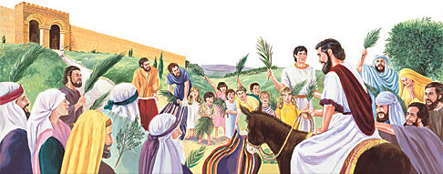 مردم به عیسی خوشامد میگویند