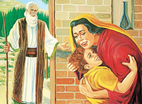 אליהו עם האלמנה ובנה שהוקם לתחייה