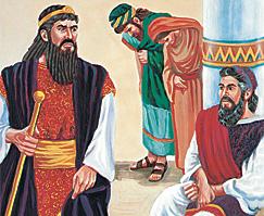 המן כועס על מרדכי