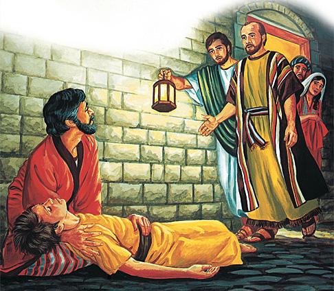 Պողոսը մոտենում է, որ հարություն տա Եվտիքոսին