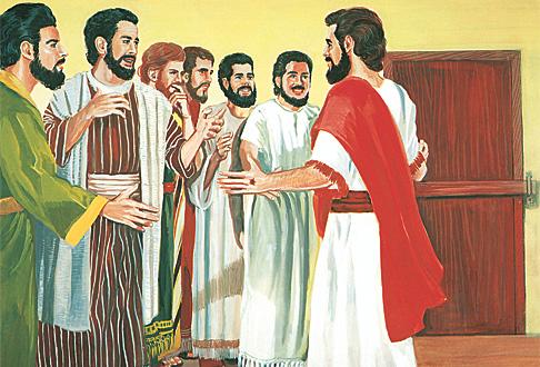 Yezu abonekeye abigishwa biwe