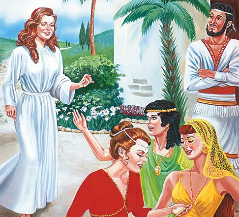 Дина посећује хананске девојке