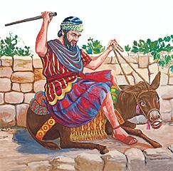 Balaam sidaon long wanfala donkey