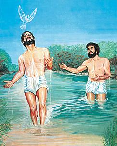 Jesus taem hem baptaes