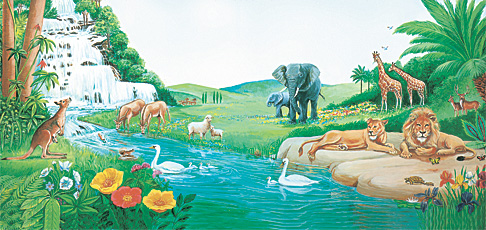 Wanyama katika bustani ya Edeni