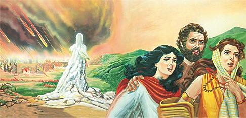 Lutu akikimbia Sodoma