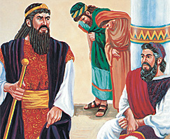 Hamani mwenye ghadhabu pamoja na Mordekai