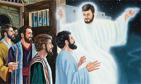 Pinalaya ng anghel ang mga apostol