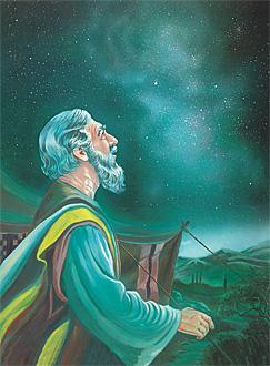 Tinitingnan ni Abraham ang mga bituin