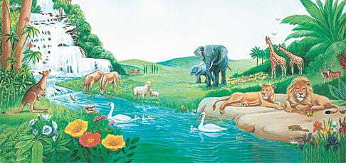 Aden bahçesinde hayvanlar