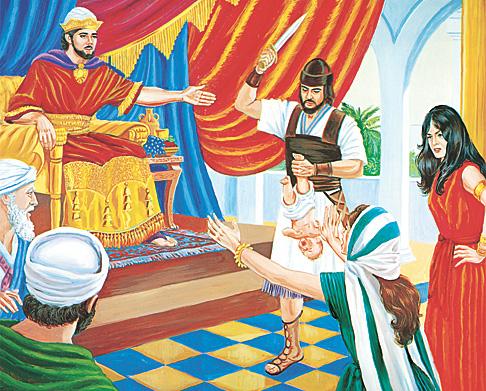 Kral Süleyman zor bir problemi çözüyor