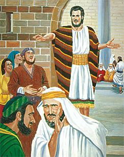 İnsanlar Yeremya'yla alay ediyor