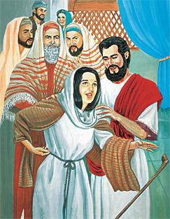 İsa hasta bir kadını iyileştiriyor