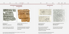 Scripture texts in Hebrew, Greek, and English