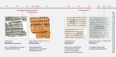 Úryvky biblického textu v hebrejčine, gréčtine a angličtine