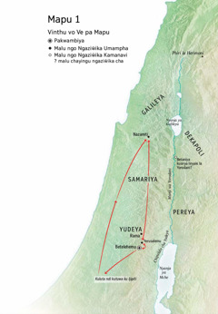 Mapu ngo ngalongo malu ngo Yesu wangufikaku: Betelehemu, Nazareti, Yerusalemu
