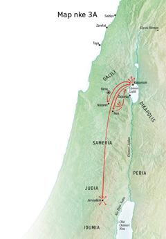 Map gosiri otú Jizọs si gaa ozi ọma na Galili, Kapaniọm, na Kena