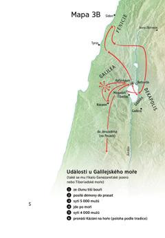 Mapa míst spojených s Ježíšovou službou v Galileji, Fénicii a Dekapoli