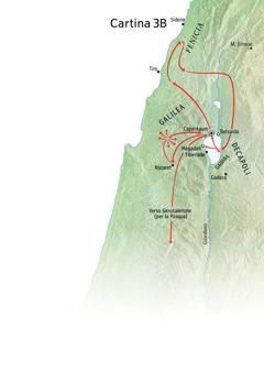 Cartina delle località legate al ministero di Gesù in Galilea, in Fenicia e nella Decapoli