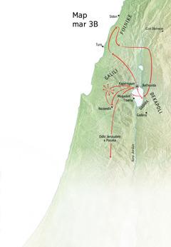 Map ma nyiso kuonde ma Yesu nowuothoe e alwora mar Galili, Foinike, kod Dekapoli