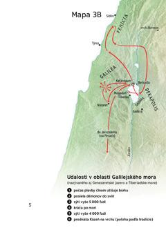 Mapa zobdobia Ježišovej služby vokolí Galiley, Fenície aDekapolisu