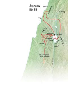 Àwòrán ilẹ̀ ibi tó tan mọ́ iṣẹ́ òjíṣẹ́ Jésù ní àgbègbè Gálílì, Foníṣíà àti Dekapólì