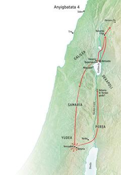 Anyigbatata si fia Yesu ƒe subɔsubɔdɔa wɔwɔ le Yudea, hekpe ɖe Yerusalem, Betania, kaka va ɖo Kaisarea Filipi ŋu
