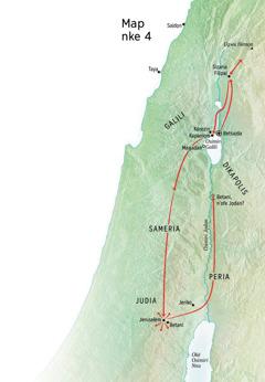 Map gosiri otú Jizọs si gaa ozi ọma na Judia nakwa na Galili