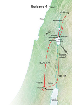 Map of Jesus' ministry in Judea and Galilee