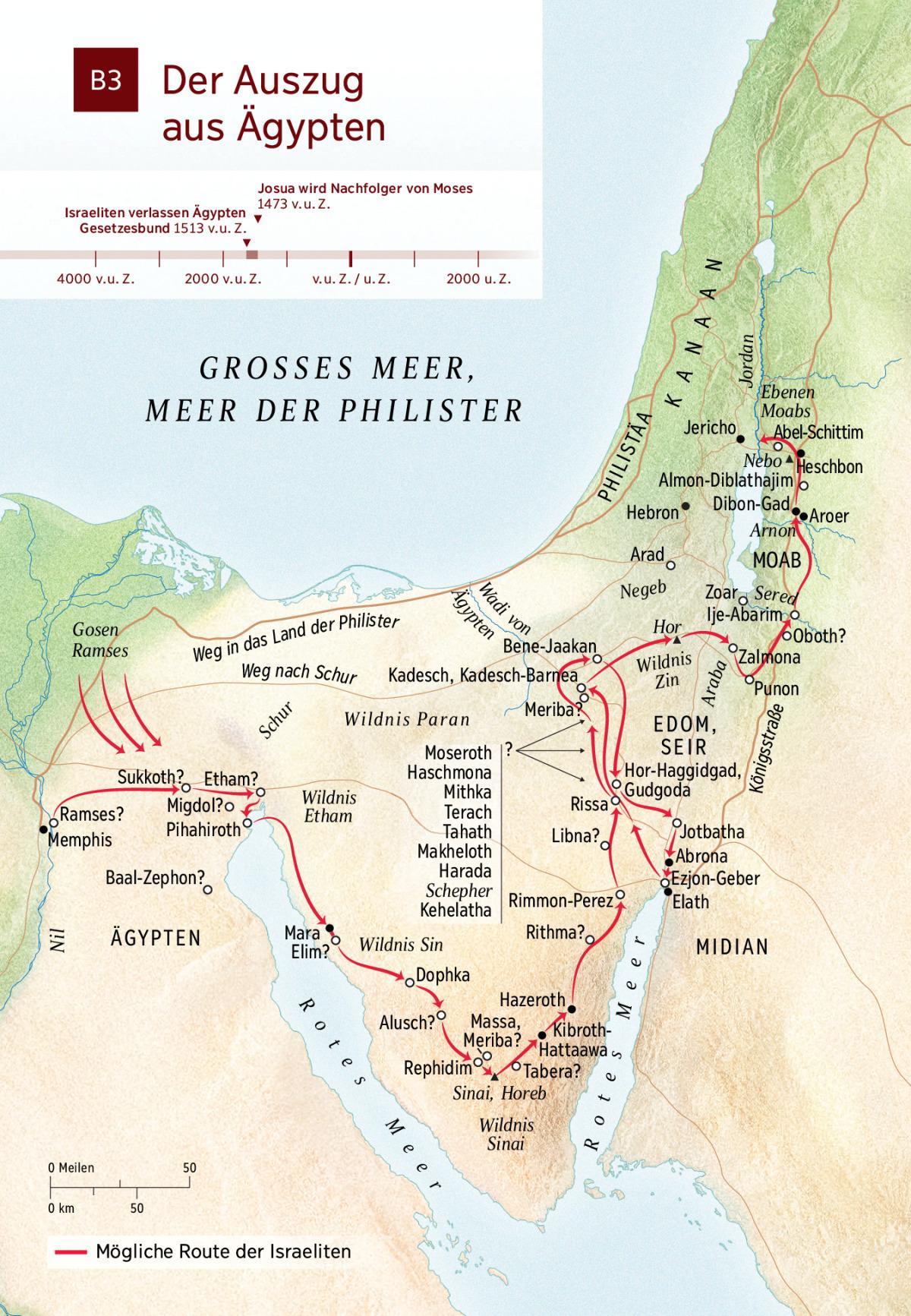 Karte Von ägypten.Karte Der Auszug Aus ägypten Nwt