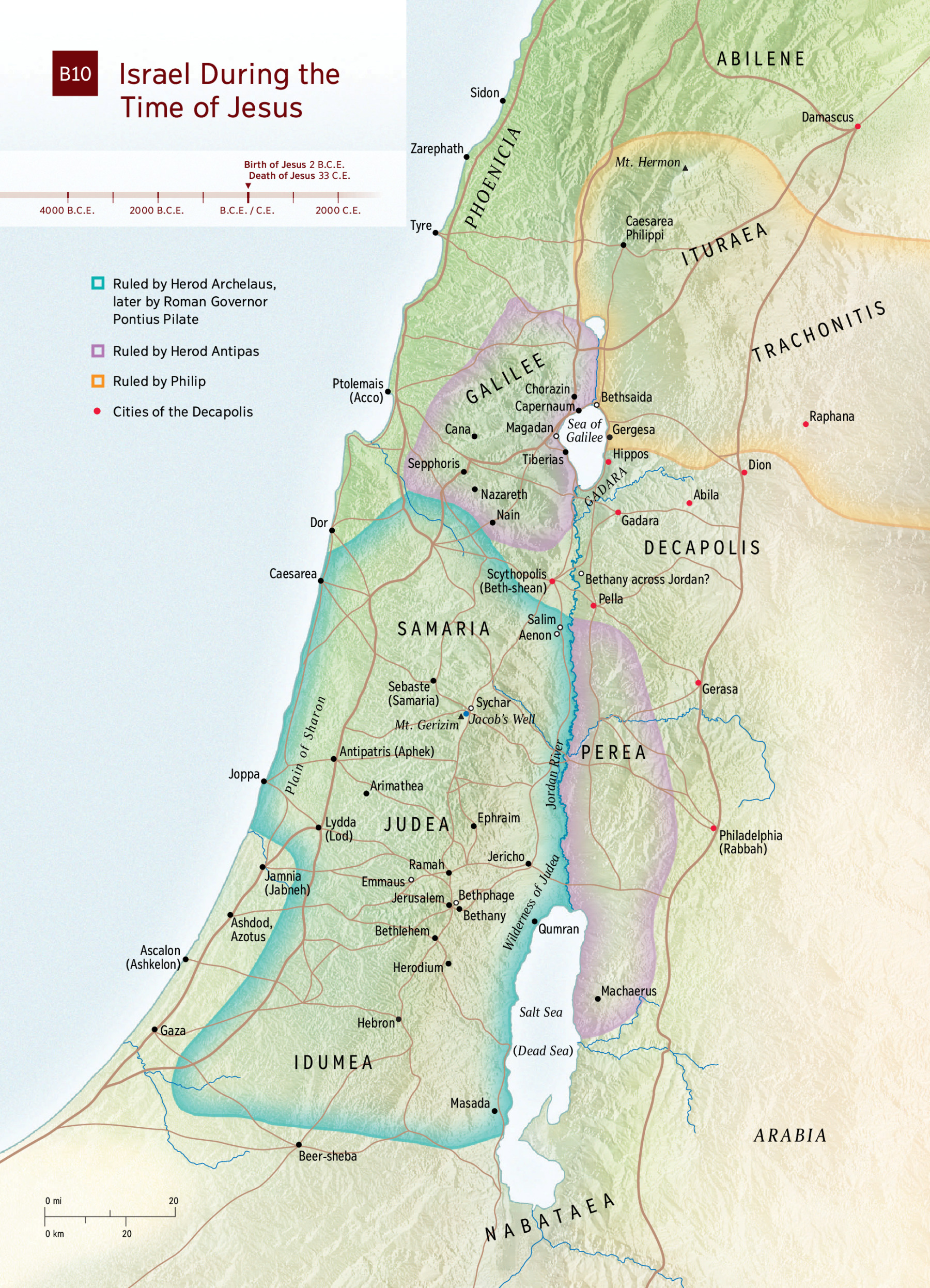 Map Of Israel In Jesus Time Map: Israel in Jesus' Time | NWT