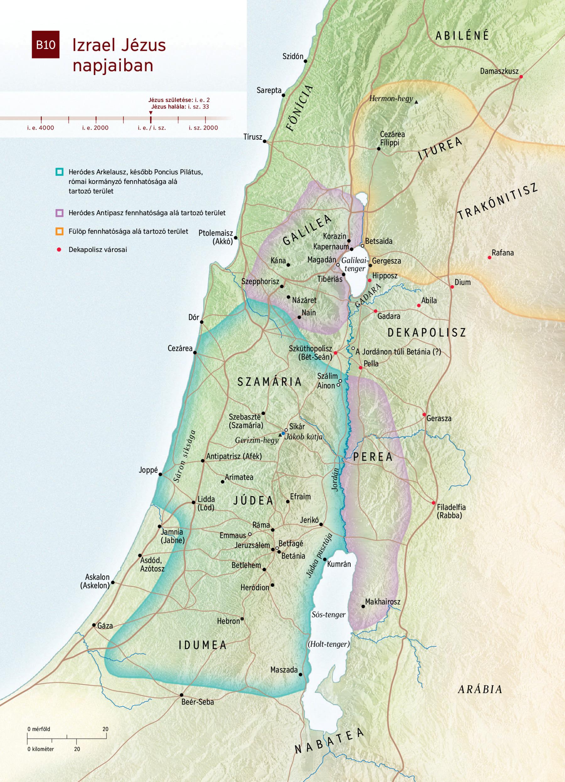 izrael térkép Térkép: Izrael Jézus napjaiban   NWT izrael térkép