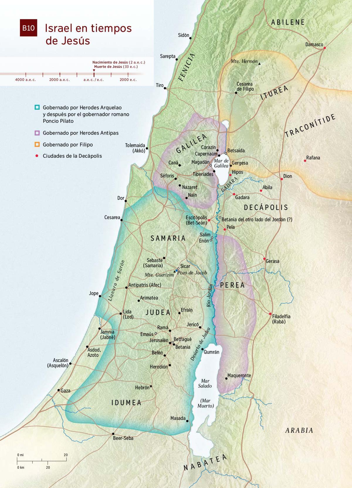 Mapa Israel En Tiempos De Jesús Tnm