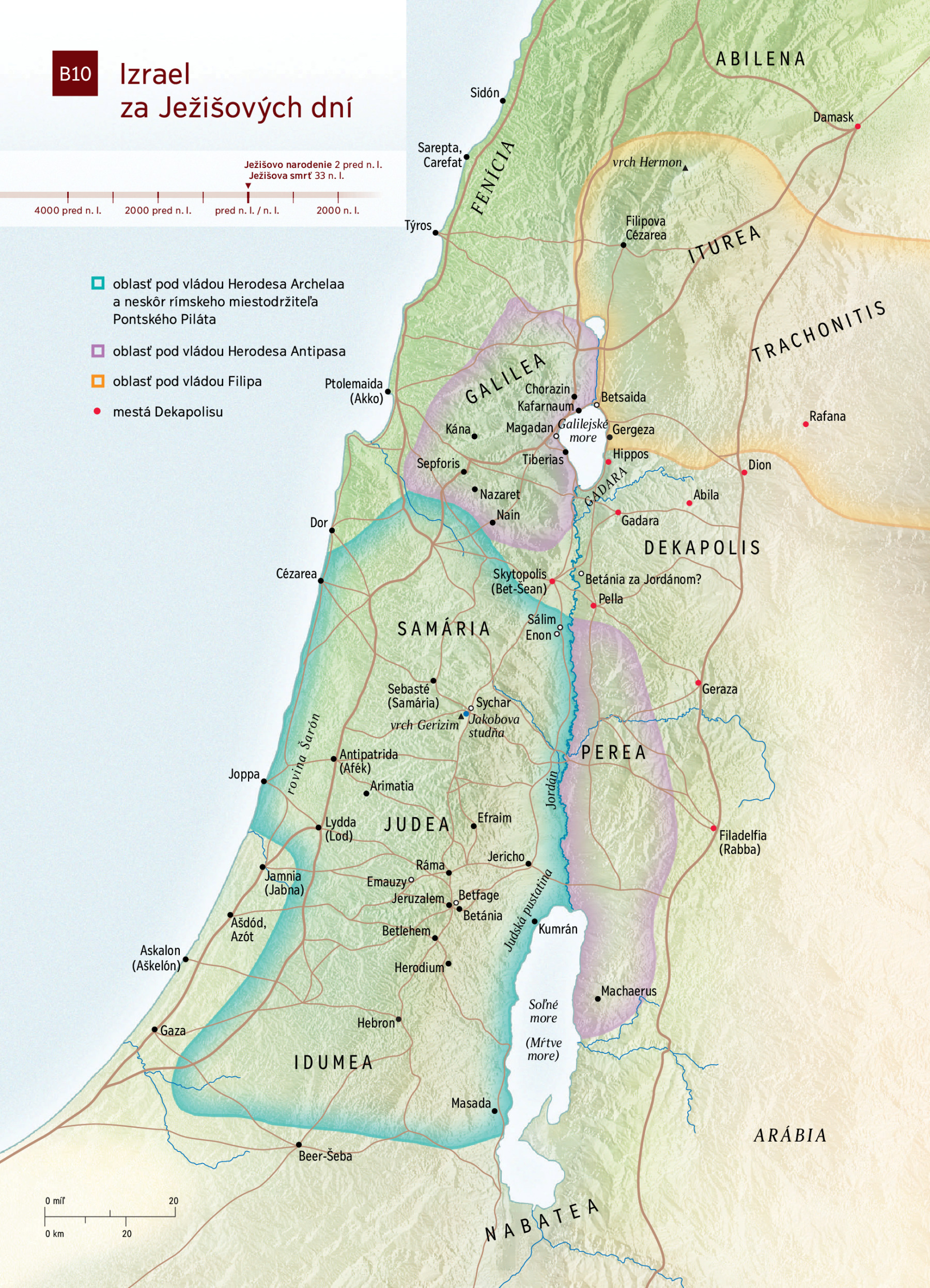 Mapa Izrael Za Jezisovych Dni