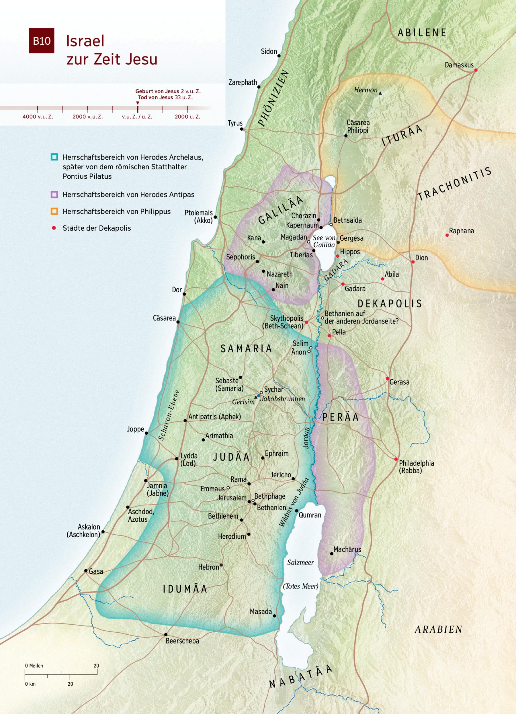Karte Israel Zur Zeit Jesu Nwt
