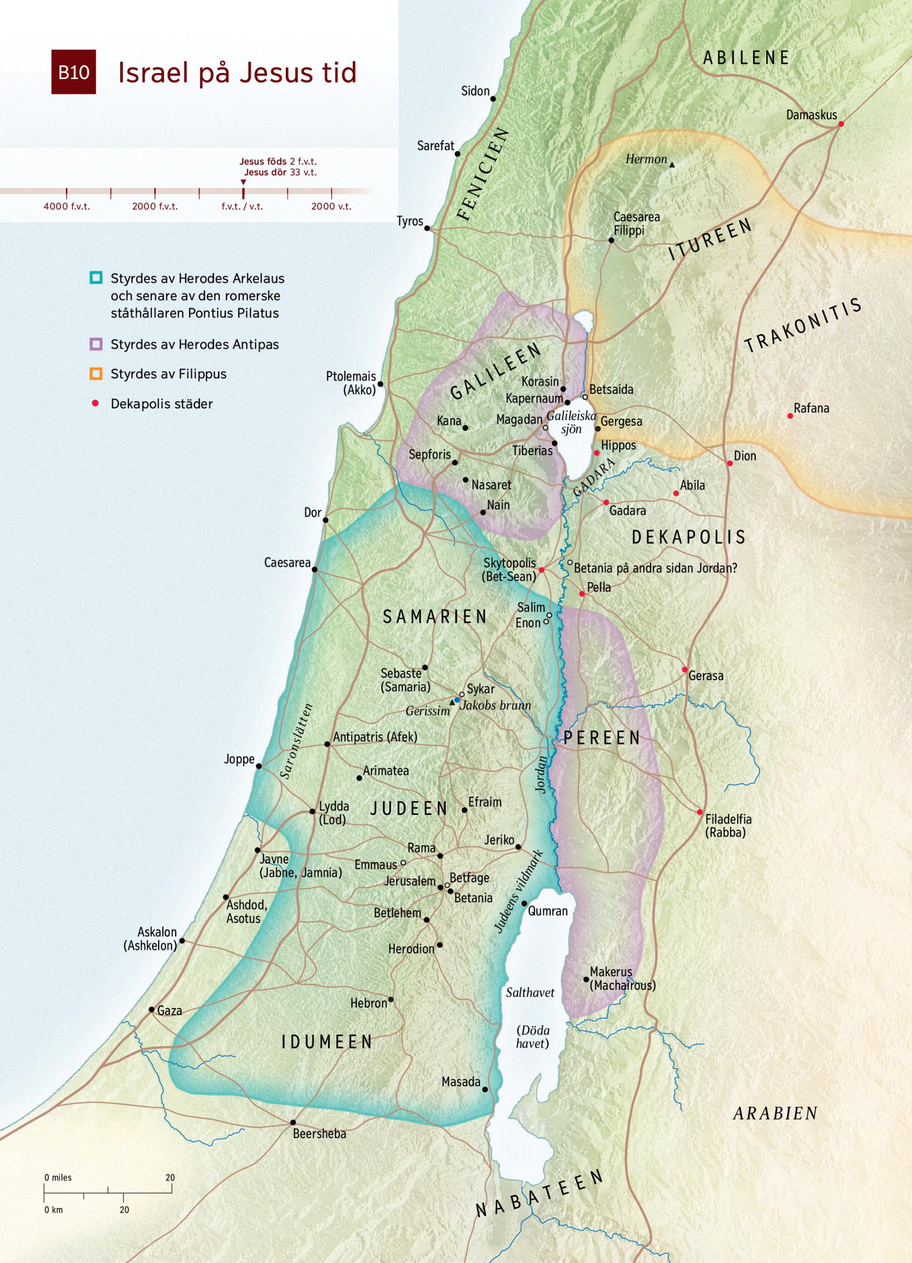 karta över israel på jesu tid Karta: Israel på Jesus tid | NWT karta över israel på jesu tid