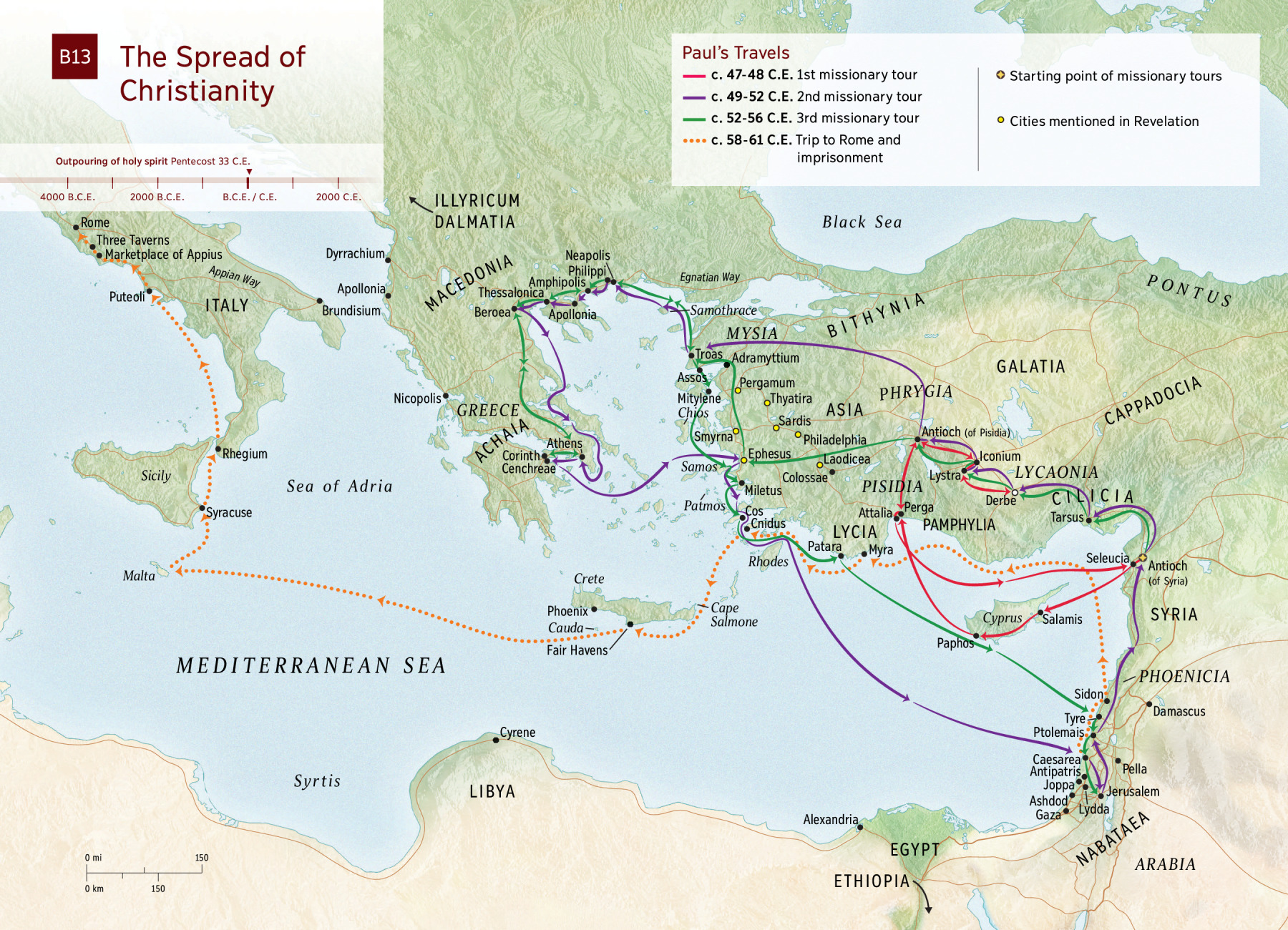 The Spread of Christianity (Map) | NWT