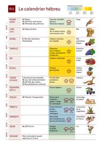 B15 Le calendrier hébreu