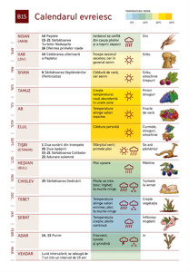 B15 Calendarul evreiesc