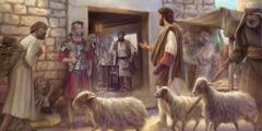 Jezus zaprasza Mateusza, żeby został jego naśladowcą