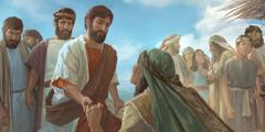 Gesù guarisce una donna