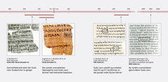 Bibeltekst på hebraisk, gresk og engelsk