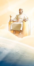 Jesus hersker over jorden fra sin trone i himlen, som forudsagt i Åbenbaringen