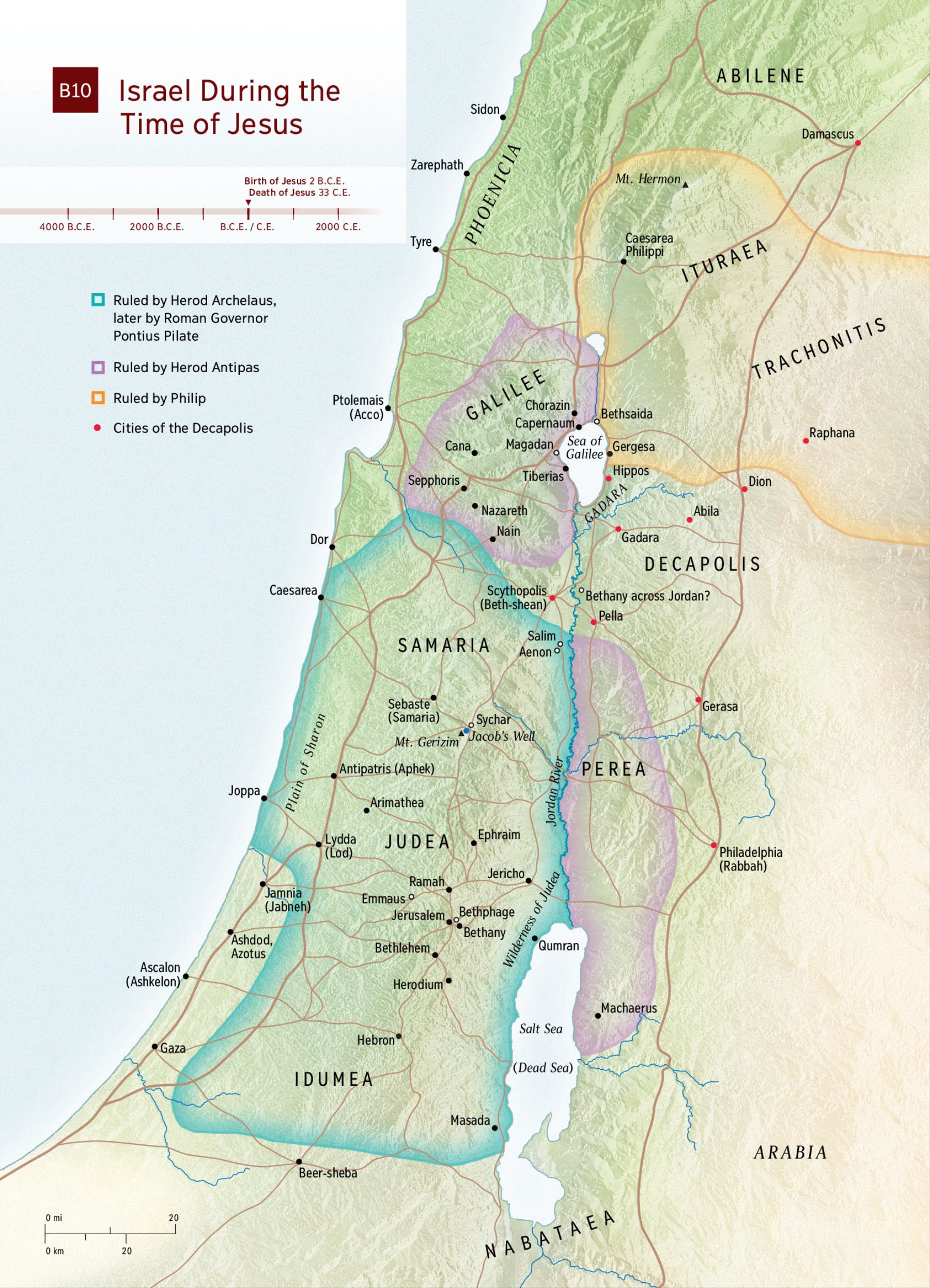 . map israel in jesus' time  nwt study bible