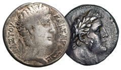 A tetradrachma of Antioch and a tetradrachma of Tyre