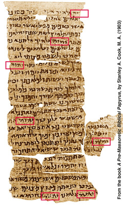 Nash Papyrus, dated from the second or first century B.C.E.