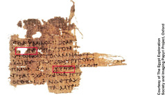 The Oxyrhynchus Papyrus 3522, dated from the first century C.E.