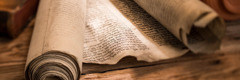 Antiguos rollos de la Biblia
