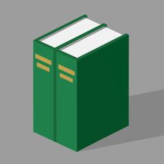 圣经百科《洞悉圣经》的上册和下册。